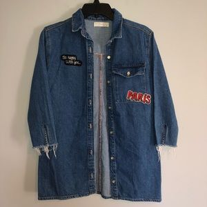 "Zara Girls ""Paris"" 'So Happy With You' Jean Jacket"